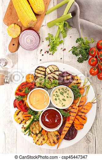 grilled vegetables - csp45447347