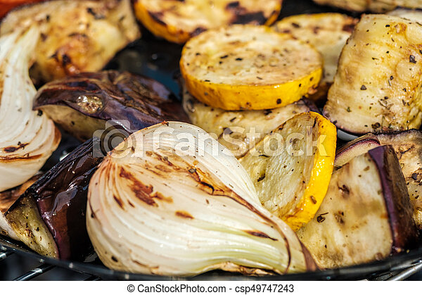 grilled vegetables - csp49747243