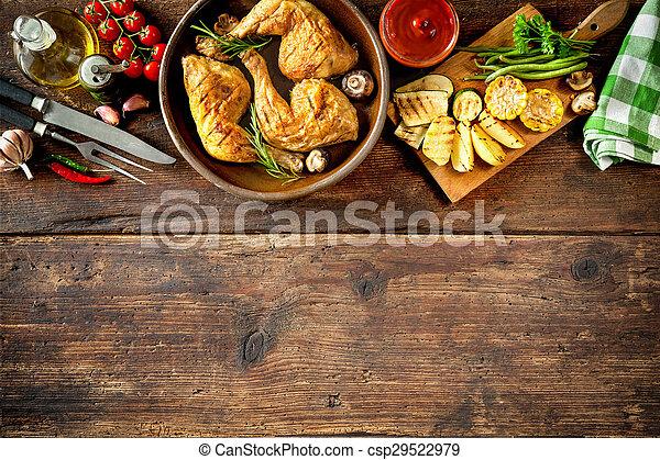 grillere kylling, ben - csp29522979