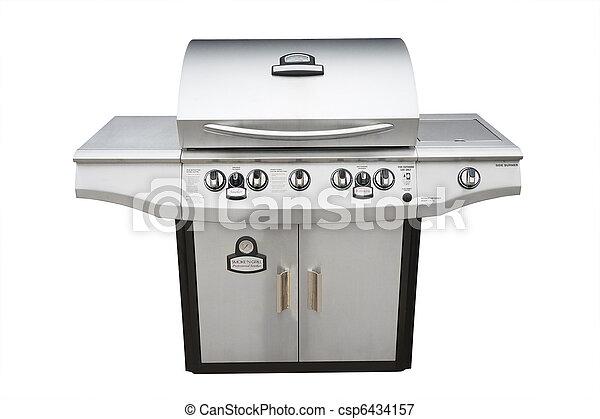 grillsütő, gáz, elszigetelt, grill - csp6434157