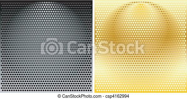 Ein Set runder Metallgrills - csp4162994