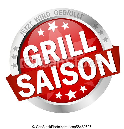 grillsaison, guzik, chorągiew - csp58460528