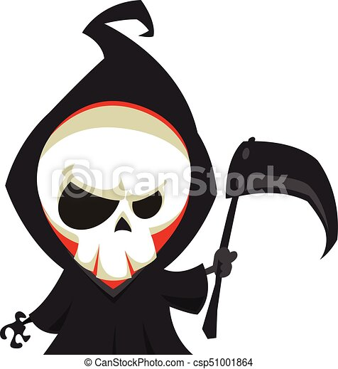grim reaper cartoon character with scythe isolated on a clip art rh canstockphoto com clipart grim reaper grim reaper clip art free images