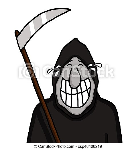 grim reaper grinning grim reaper holding a blade and vector clip rh canstockphoto com clipart grim reaper clipart grim reaper