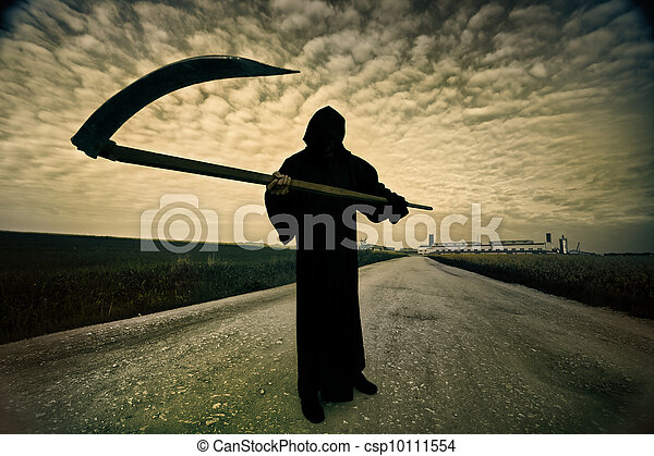 Grim Reaper on the road - csp10111554