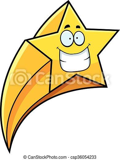 grimacer, étoile filante, dessin animé - csp36054233