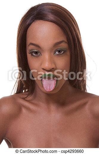 Black Girl With Long Tongue