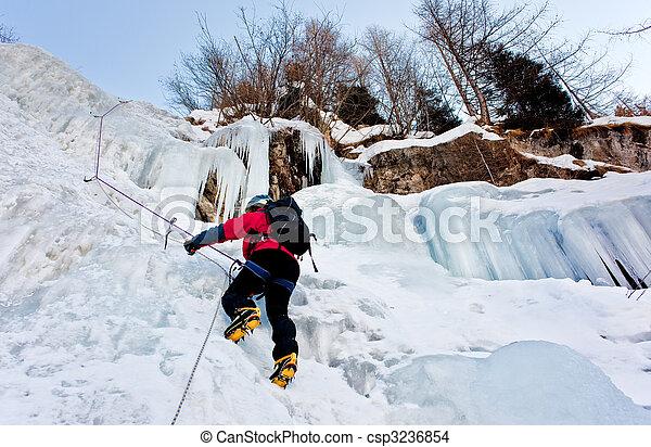 grimpeur, glace - csp3236854