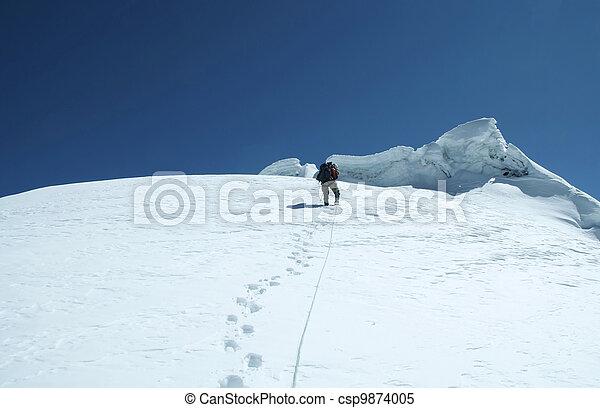 grimpeur, pic - csp9874005