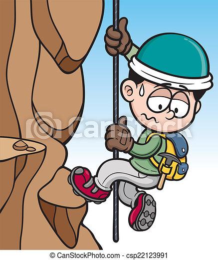 grimpeur, rocher - csp22123991