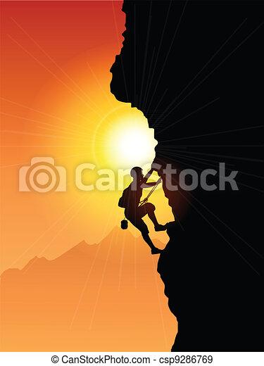grimpeur, rocher - csp9286769