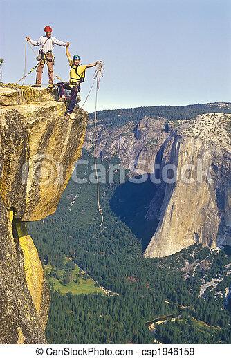 grimpeurs, summit., équipe - csp1946159