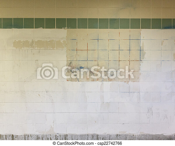 Grimy Subway Wall - csp22742766