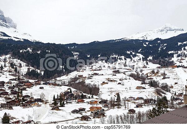 Grindelwald, swiss alps - csp55791769