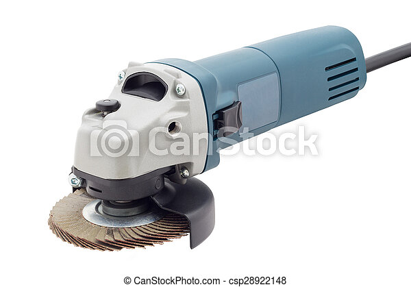 grinder and cutting hand tool isolated on white - csp28922148