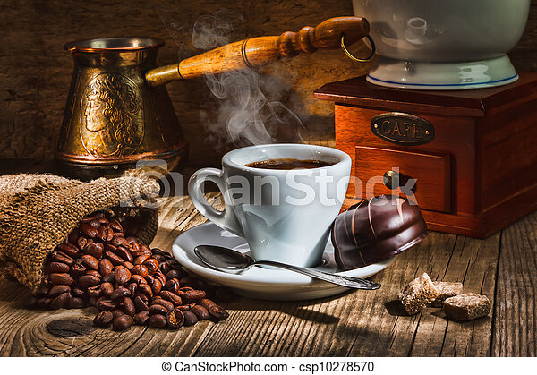 grinder and other accessories for the coffee - csp10278570