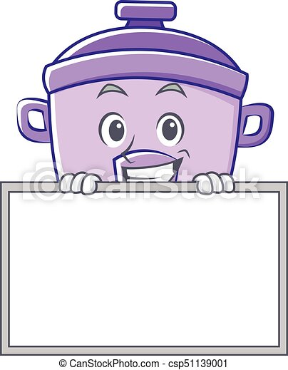 67983fd44f0d9 Grinning with board rice cooker character cartoon vector.