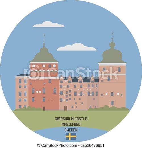 Gripsholm castle. Mariefred, Sweden - csp26476951