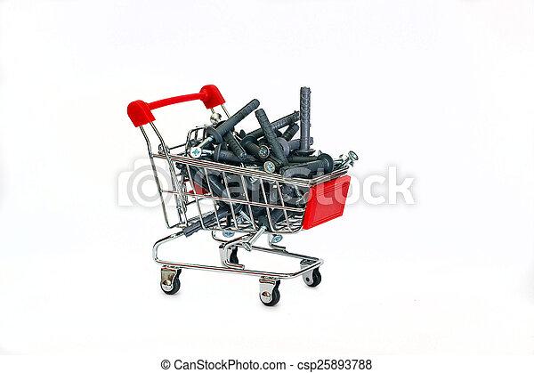 Dowels gris en el carrito de la compra - csp25893788