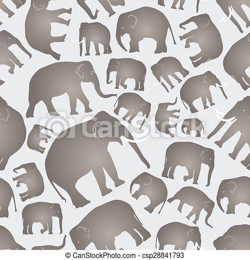 Elefantes vector grises simples patrones sin costura eps10 - csp28841793