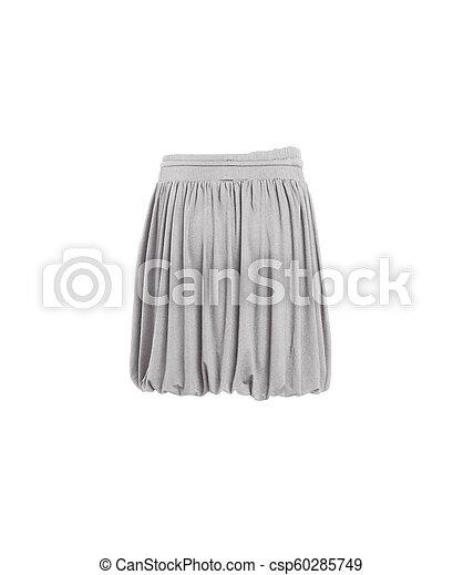 gris, jupe, isolé - csp60285749