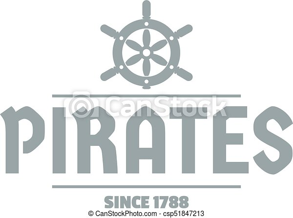 Gris Style Simple Bateau Pirate Logo