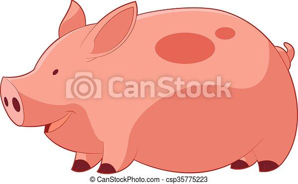 gris, tecknad film, lycklig