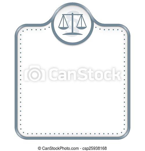 Un marco gris para tu símbolo de texto y ley - csp25938168
