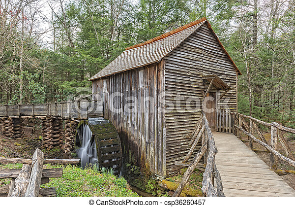 Grist Mill In Cades Cove - csp36260457