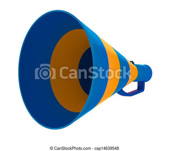 grito, ar, branca, isolado - csp14639548