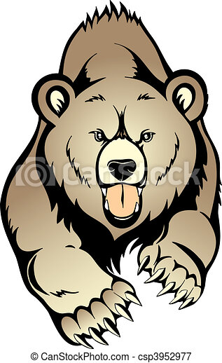 grizzly bjørn - csp3952977