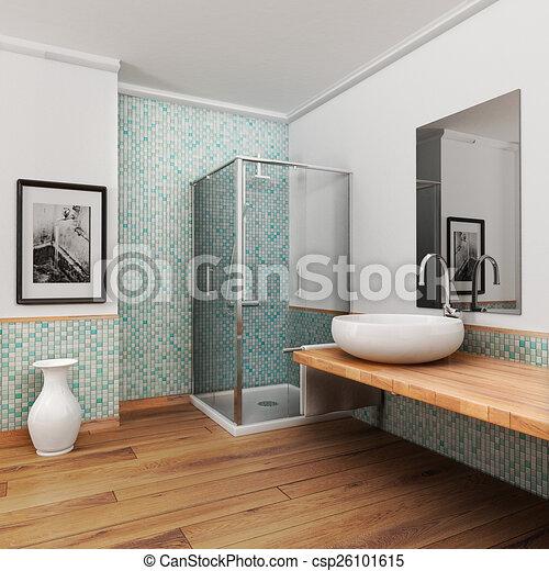 groß, badezimmer