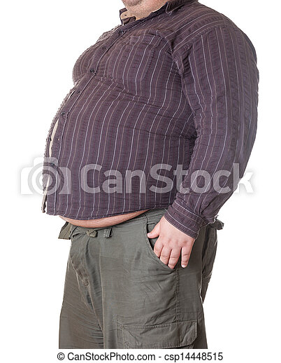 Mann groß dick