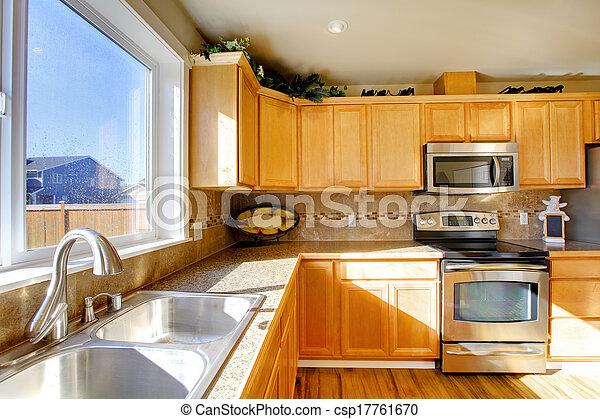 Komfortables großes Küchenzimmer - csp17761670