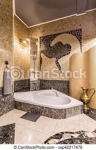 Gro elegant badezimmer badewanne mosaik badezimmer for Badezimmer mosaik bilder