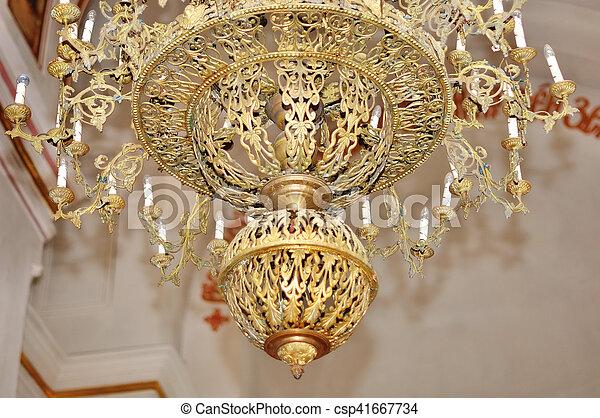 Hochwertig Groß, Kronleuchter, Christ, Bronze, Kirche   Csp41667734
