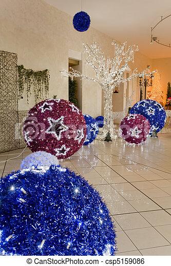 groß, kugeln, weihnachten - csp5159086