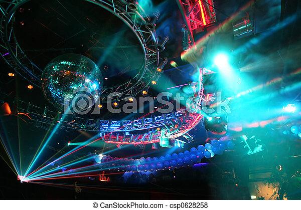 groß, party, disko - csp0628258