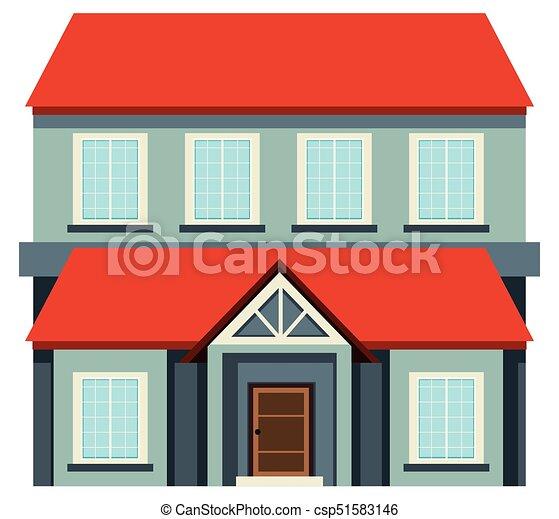 Elegant Groß, Rotes , Dach, Haus   Csp51583146