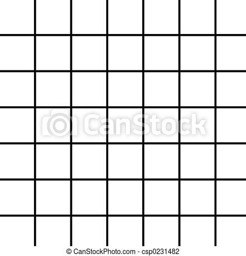 groß, schwarz, weißes, gitter - csp0231482