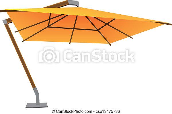 Sonnenschirm grafik  Groß, sonnenschirm. Schirm, illustration., groß, vektor ...