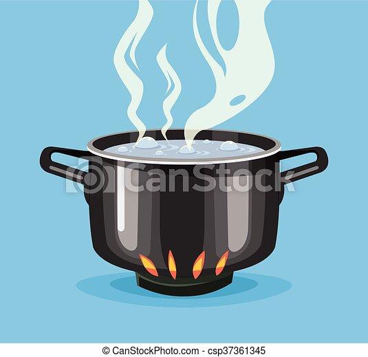 Gro topf wasser kochen schwarz pan wohnung kochen for Meine wohnung click design free