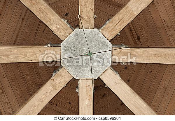 groß, unterhalb, gazebo, dach - csp8596304
