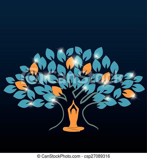 Großer farbenfroher Baum - csp27089316