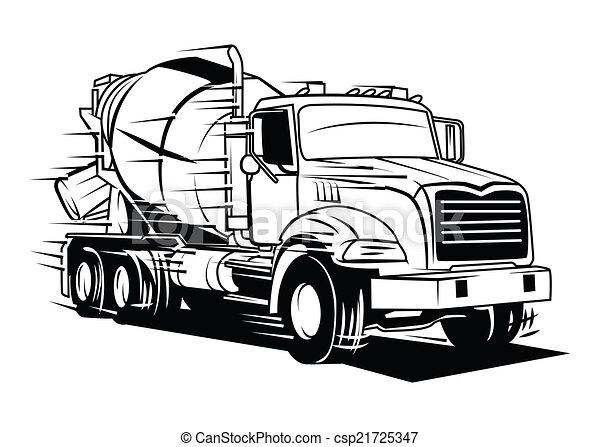 großer lastwagen - csp21725347
