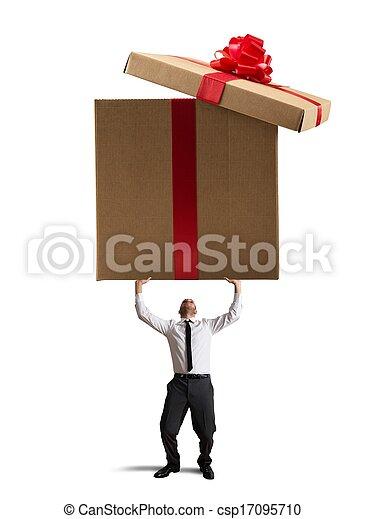 großes geschenk - csp17095710