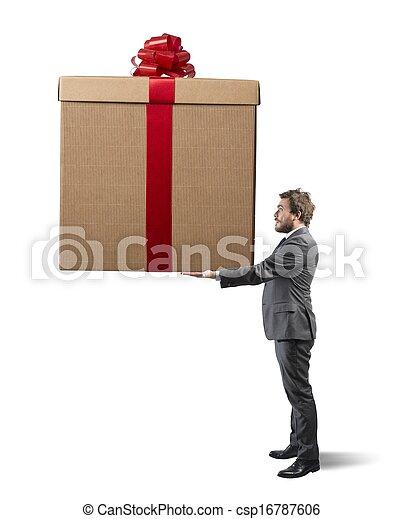 großes geschenk - csp16787606