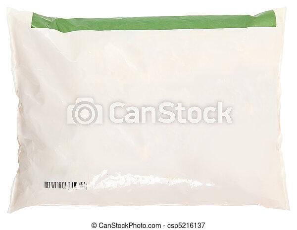 Grocery Bag Blank Label Frozen Food - csp5216137