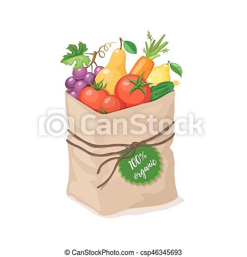 grocery paper bag - csp46345693