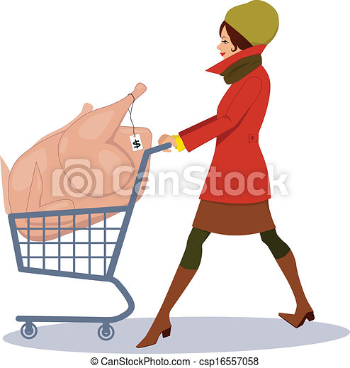 Grocery shopping for holidays - csp16557058